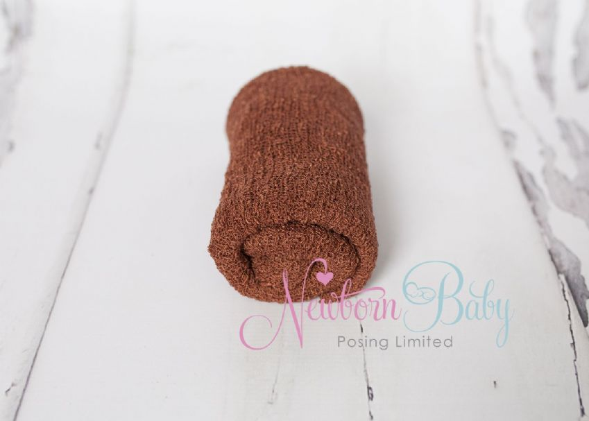 Brown Stretch Wrap | Newborn Baby Posing Limited
